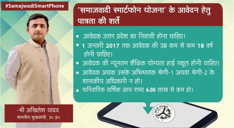 Samajwadi Smartphone Yojana Eligibility