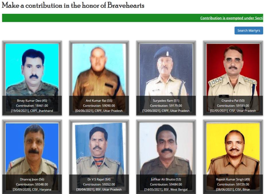 Bharat Ke Veer Contribution Bravehearts