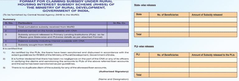 Interest Subsidy Scheme Release Mechanism