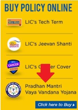 Pradhan Mantri Vaya Vandana Yojana Apply Online Form