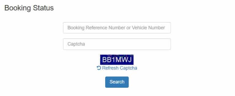 tnsand Online Booking Status