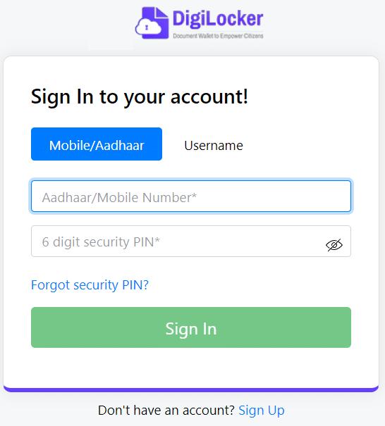 Digilocker Login Account Sign In