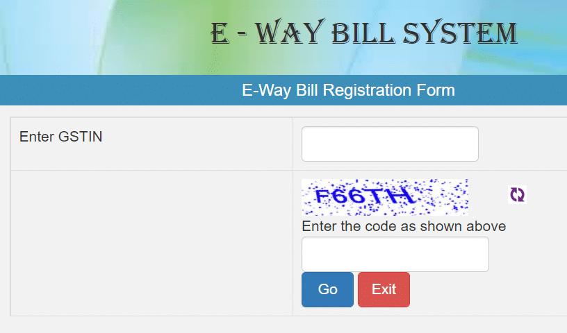 E Way Bill Registration Form GSTIN