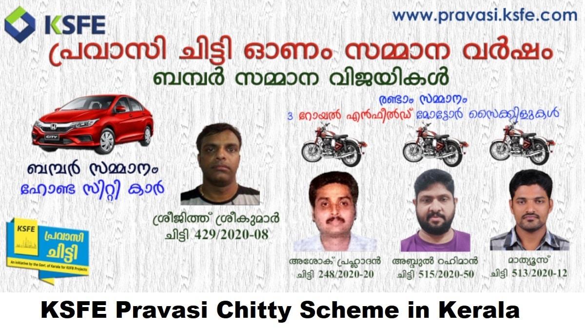 Kerala KSFE Pravasi Chitty Scheme Apply