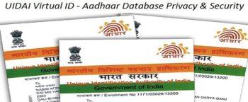 Uidai Virtual ID VID Aadhaar Database Privacy Security