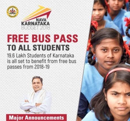 Karnataka Budget 2018-19 Free Bus Pass