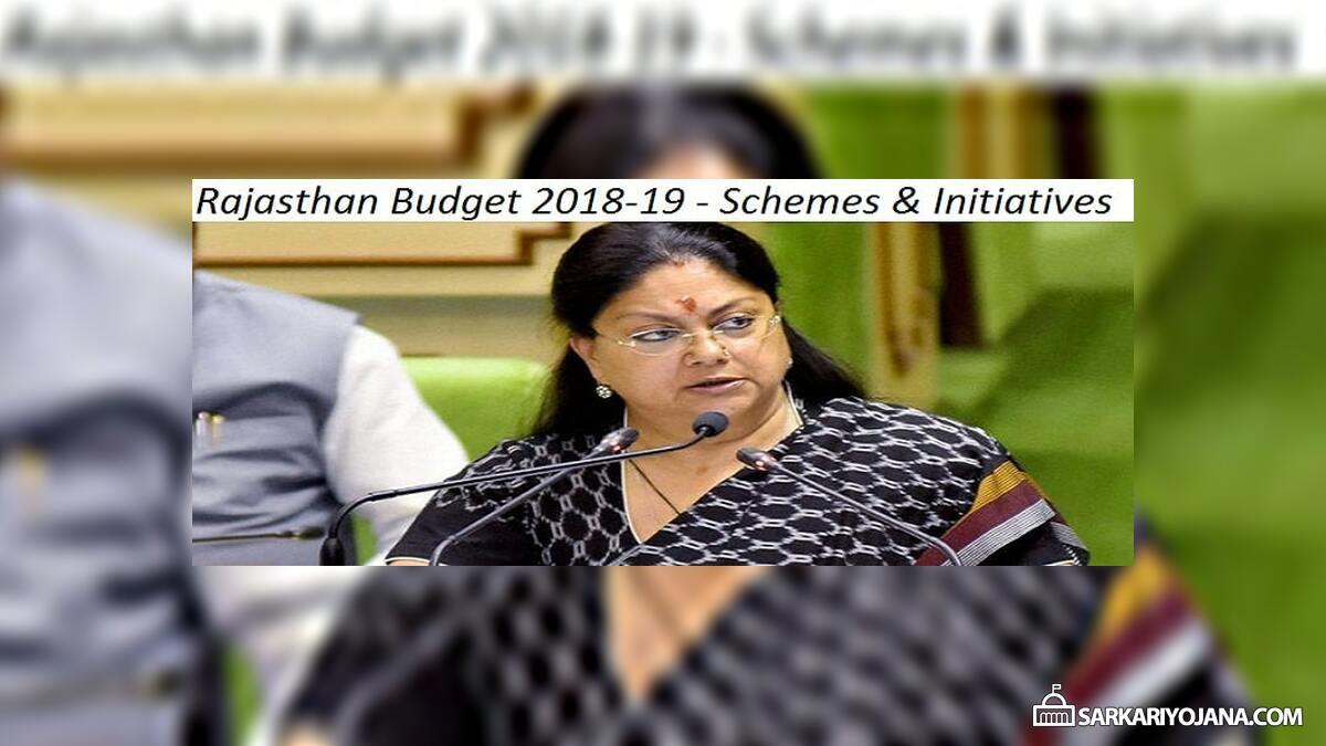 Rajasthan Budget 2018-19