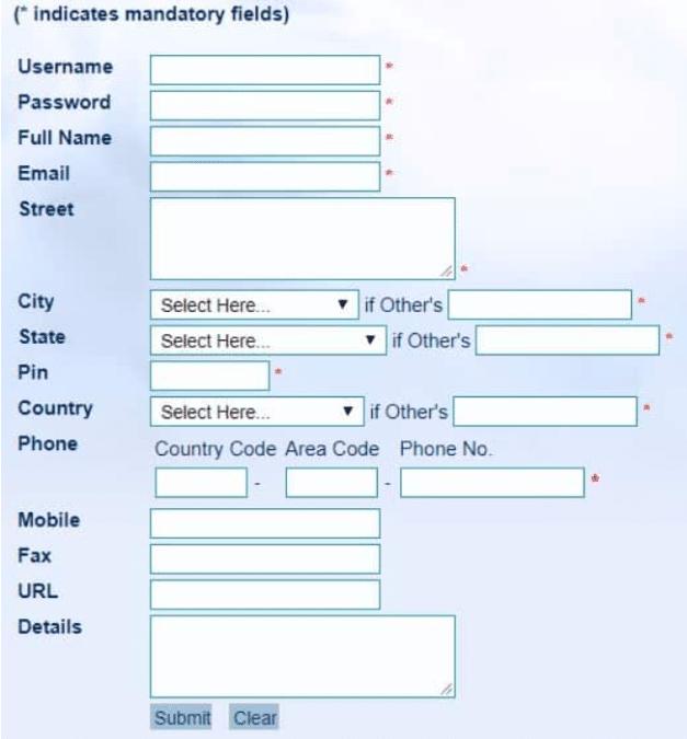 Shri Amarnathji Shrine Board Donation Registration Form