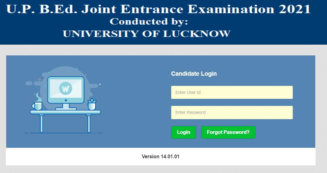 UP JEE BEd Entrance Exam Login