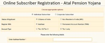 Atal Pension Yojana Online