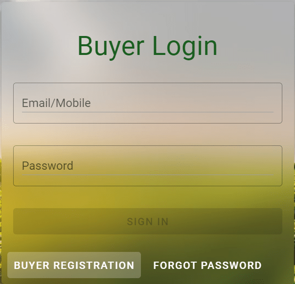 Buyer Login Jaivik Kheti Portal