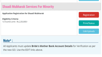 Shaadi Mubarak Registration Form Application Status