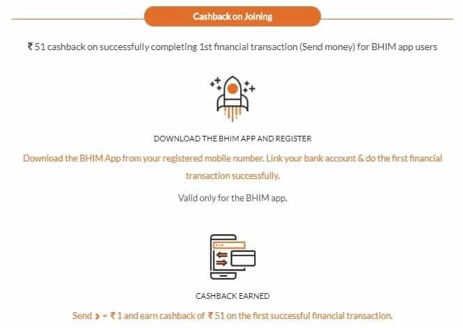 Bhim App Cashback On Joining