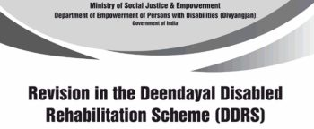 Deendayal Disabled Rehabilitation Scheme DDRS Revision