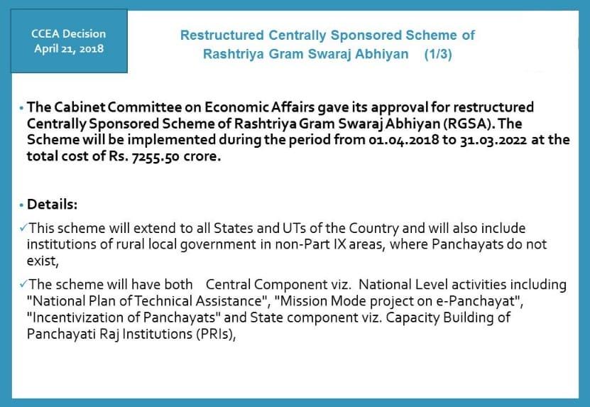 Restructured Rashtriya Gram Swaraj Abhiyan