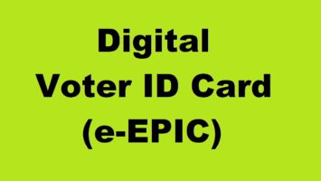 Digital Voter ID Card e-Epic Download Voterportal ECI NVSP