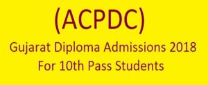 Gujarat Diploma Admission 2018 – ACPDC Polytechnic Online Application Form