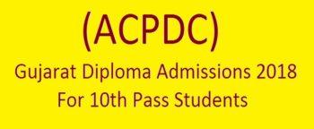 gujarat diploma admission 2018