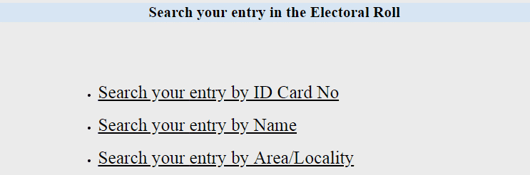 Rajasthan Name Find Voter ID Card Download