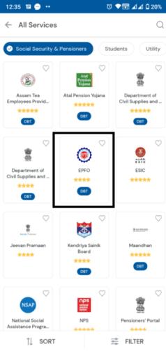 Social Security Services Umang App