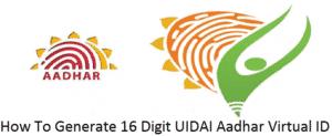 UIDAI Aadhaar Services – How To Generate Virtual ID Number at uidai.gov.in