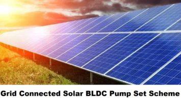 Grid Connected Solar BLDC Pump Sets Scheme