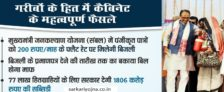 MP Electricity Bill at Rs. 200 for 77 Lakh Mukhyamantri Jan Kalyan Yojana Beneficiaries