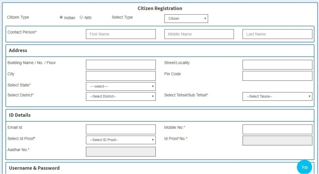NGDRS Portal Online Property Registration Form