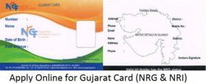 Gujarat Card NRG Online Application Form for Non Residential Gujaratis (NRGs) / NRIs