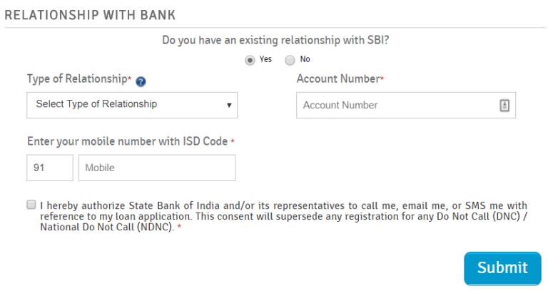 SBI Home Loan - Apply Online