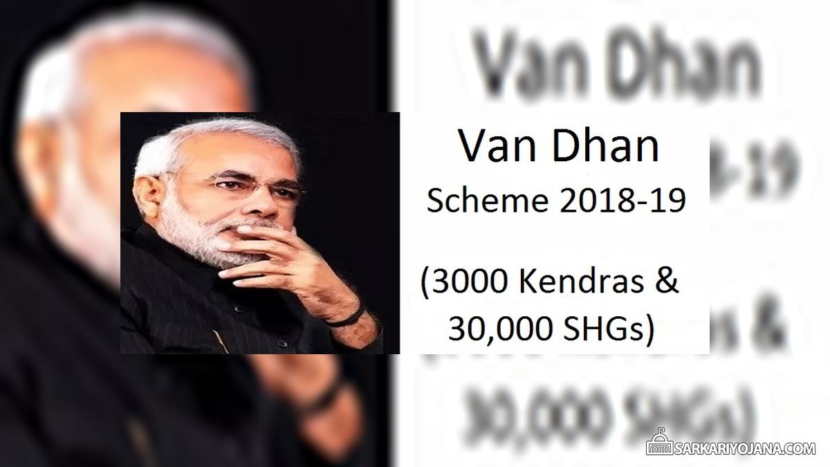 Van Dhan Scheme 2018-19 Govt Setup 3000 Van Dhan Kendras