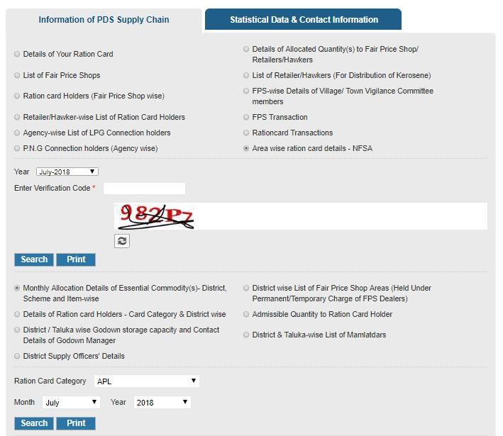 Gujarat Ration Card List Village Wise