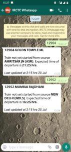 Indian Railways Whatsapp Message