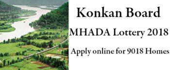 Konkan Board Mhada Lottery 2018 Online Application Price Housing