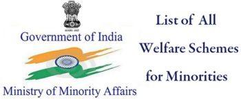List Minority Welfare Schemes English