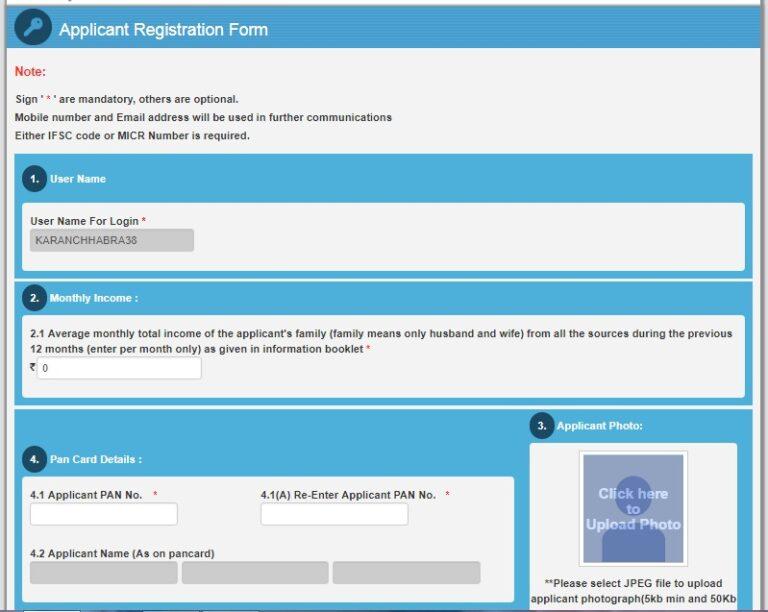 MHADA Konkan Lottery 2018 Registration Form