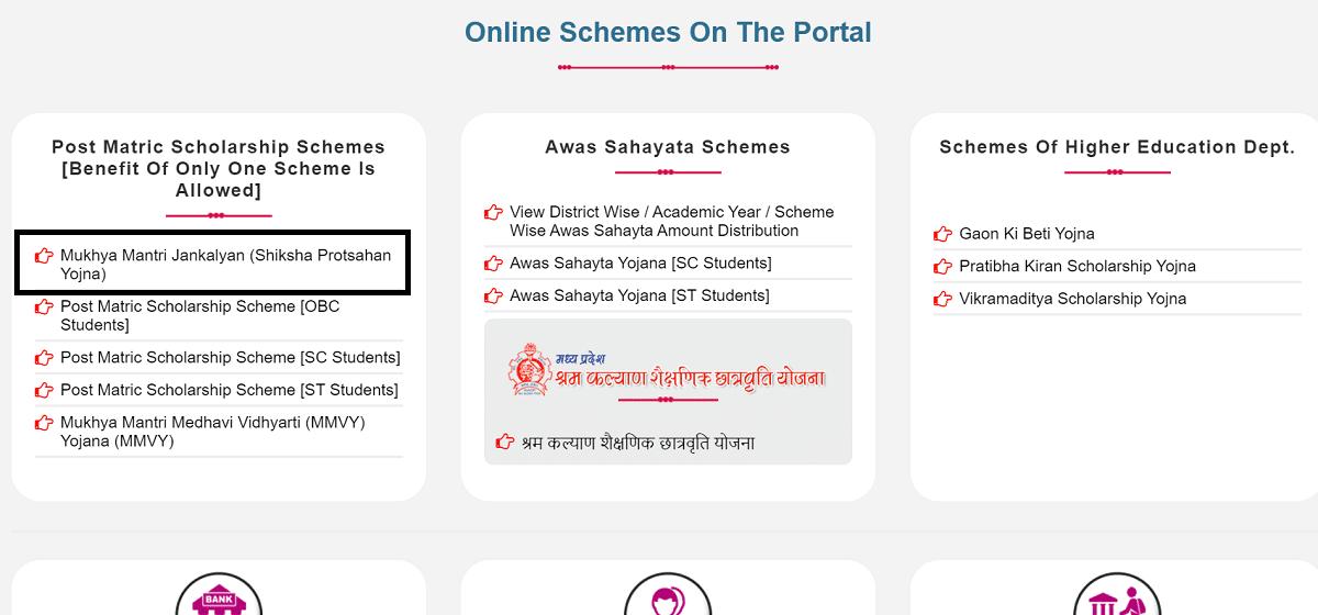 Scholarshipportal MP Nic Online Schemes