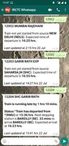 Whatsapp Number of Indian Railways