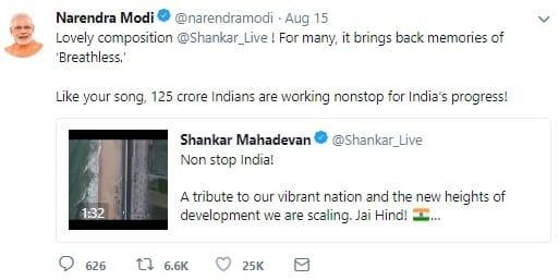 Non Stop India Breathless Recreated Modi Praises