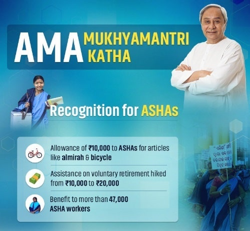 Odisha Assistance Asha Workers Retirement