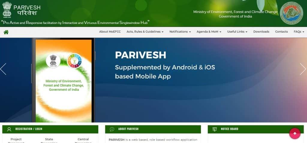 Parivesh Portal Environment Forest Wildlife Clearances