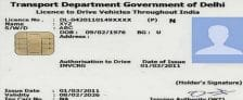 Apply Online Driving Licence Delhi