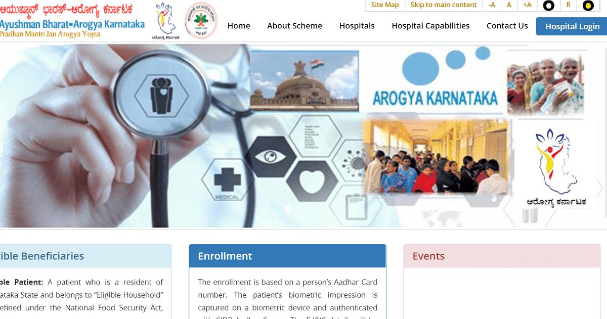 Arogya Karnataka Gov In Official Website