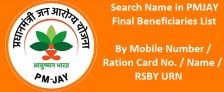 Check Name PM Jan Arogya Yojana Final Beneficiaries List