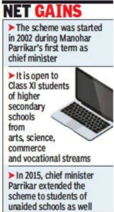 Goa Revised Free Laptop Scheme Cyberage