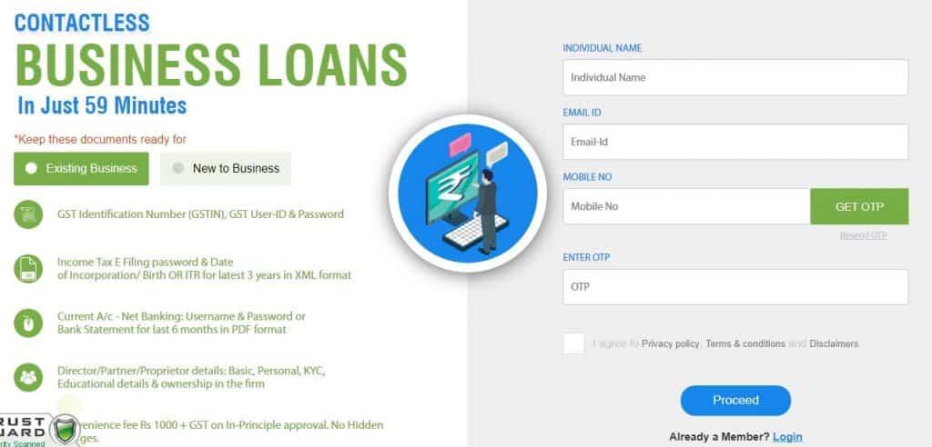 MSME Business Loans 59 Minutes Registration Form