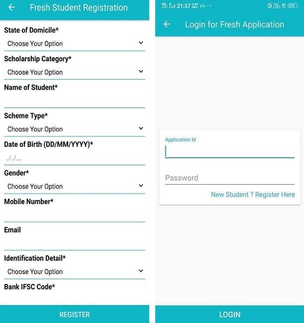 NSP Mobile App Registration Login