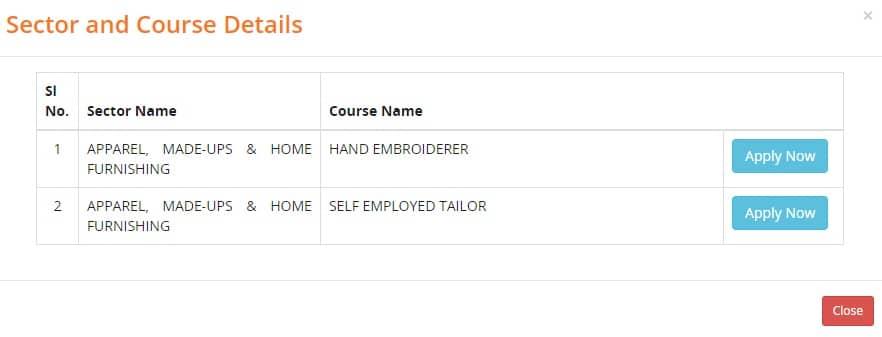 Swapno Bhor Scheme Courses List