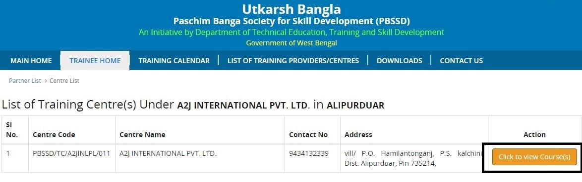 Swapno Bhor Training Centers List