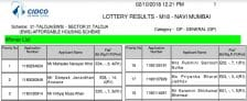 CIDCO Lottery 2018 Draw Result Winners List